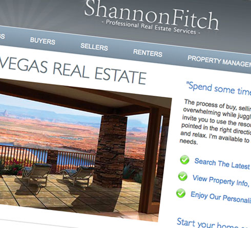 Real Estate site homepage