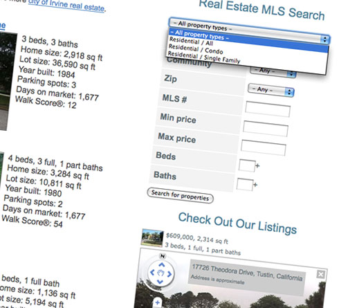 Integrated MLS search tools